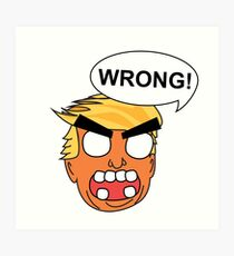 angry zombie trump is wrong again Art Print