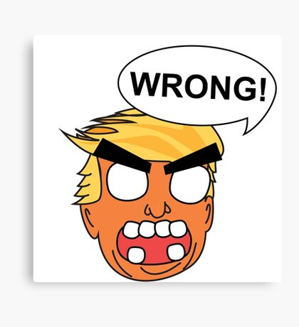 angry zombie trump is wrong again Canvas Print