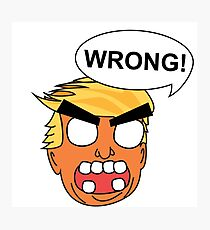 angry zombie trump is wrong again Photographic Print