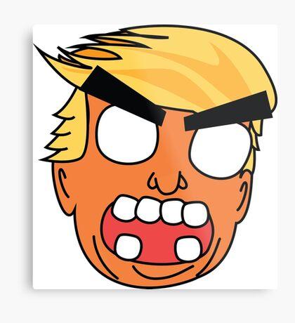 angry zombie trump Metal Print