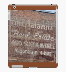 New York City:  Real Estate Ghost Sign iPad Case/Skin