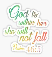 Psalm 46:10 c Sticker