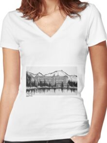 Lake Louise, Alberta, Canada Women's Fitted V-Neck T-Shirt