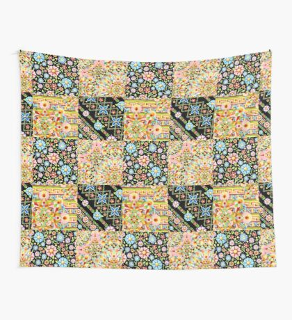 Crazy Crazy Patchwork Quilt Wall Tapestry