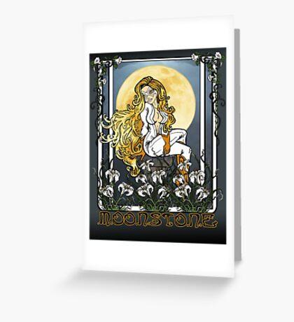 Moonstone Nouveau Greeting Card