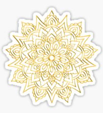 Golden Mandala Sticker