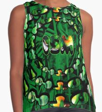 Flowers in Another ism Contrast Tank