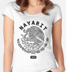 Nayarit Mexiko 1810 T-Shirt Tailliertes Rundhals-Shirt