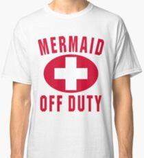 Mermaid Off Duty Red Classic T-Shirt