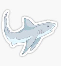 Curious Cute Grey Shark Sticker