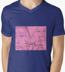 BT das Zifferblatt T-Shirt mit V-Ausschnitt für Männer