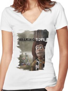 The Walking Toys Women's Fitted V-Neck T-Shirt