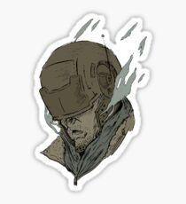 Guy With Helmet  Sticker