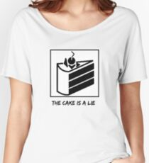 The Cake is a Lie ;( Women's Relaxed Fit T-Shirt