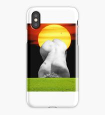 The sun shines out of behinds iPhone Case