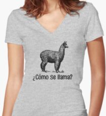 Cómo se llama? Women's Fitted V-Neck T-Shirt