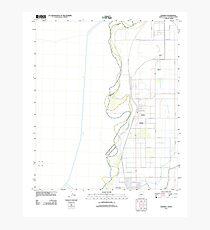 USGS TOPO Map Arizona AZ Gadsden 20111123 TM Photographic Print