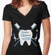 Dentist Artist  Women's Fitted V-Neck T-Shirt