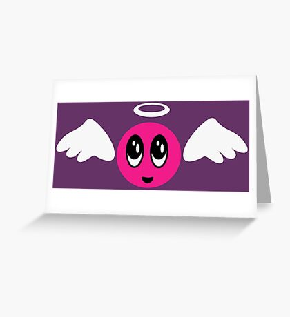 Angel Smiley (pink) VRS2 Greeting Card
