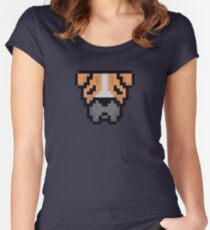BitDogs - Boxer Women's Fitted Scoop T-Shirt