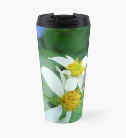 Banded Hairstreak in Spanish Needles Travel Mug