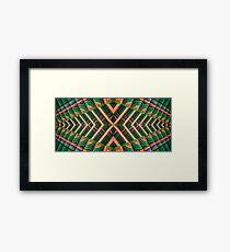 Korean Pagoda multicolored abstract 2 Framed Print