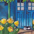Blue door by Marikohandemade