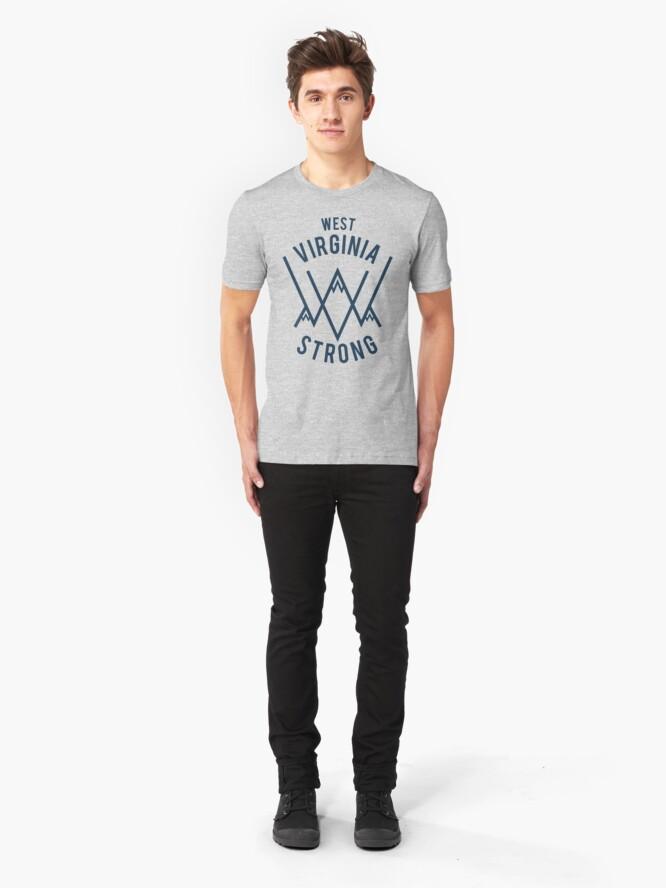 Alternate view of Jennifer Garner's Official West Virginia Strong Shirt Slim Fit T-Shirt