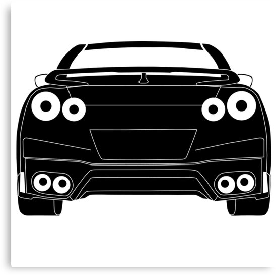 """Rear Tail Light Tee / Sticker For R35 Nissan GTR Enthusiasts"