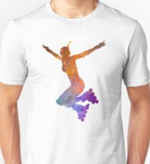 Woman in roller skates 07 in watercolor T-Shirt