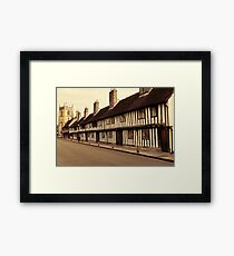 Tudor Terrace Framed Print