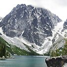 Mountains at end of Colchuck Glacial Lake - Cascades NP by Braedene