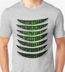Camiseta unisex Código binario dentro