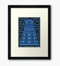 Exterminate Blue Framed Print