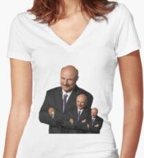 Dr. Phil Multiplied Women's Fitted V-Neck T-Shirt