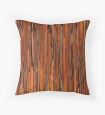 Copper Paint Stripe Throw Pillow