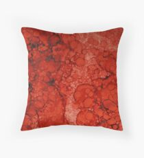 Red Copper  Throw Pillow
