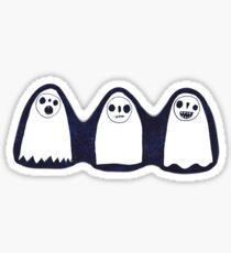Three Spooky Ghosts Sticker