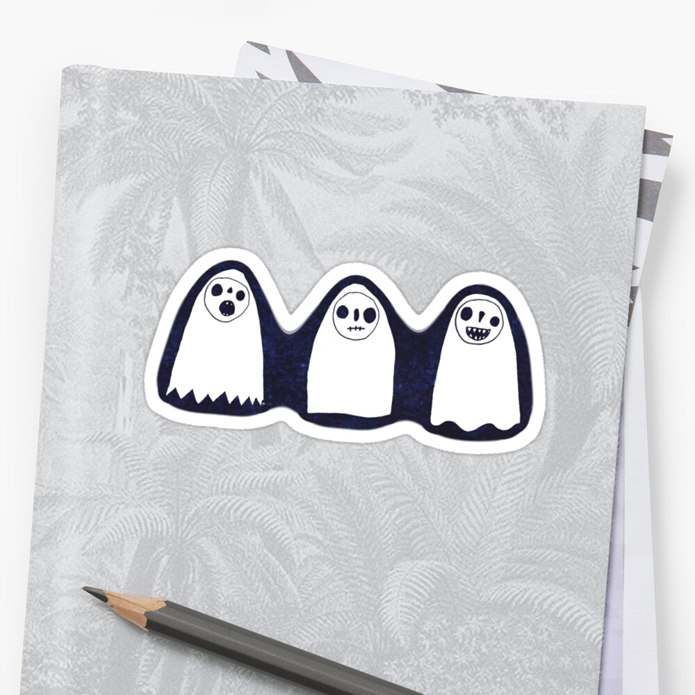 Three Spooky Ghosts by Cat Bruce