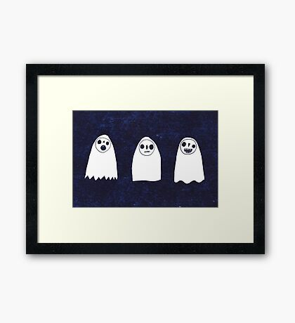 Three Spooky Ghosts Framed Print