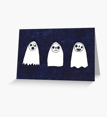 Three Spooky Ghosts Greeting Card