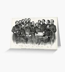 Grant and his generals distinguished commanders, in the campaign against Richmond - 1865 Greeting Card