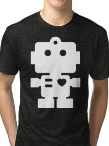 Robot - black & white Tri-blend T-Shirt
