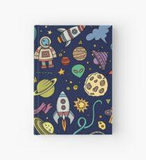 Cartoon Space Explorer Birthday Kids Theme Hardcover Journal
