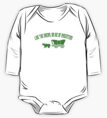 THE OREGON TRAIL - LIVE THE DREAM OR DIE OF DYSENTERY (2) One Piece - Long Sleeve