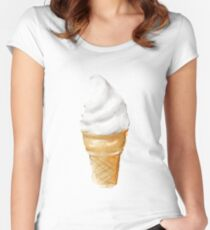 Soft serve Women's Fitted Scoop T-Shirt