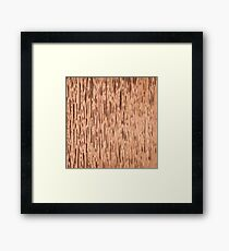 Rust Copper Textured Framed Print