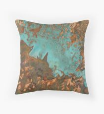 Marine Rust Copper Throw Pillow