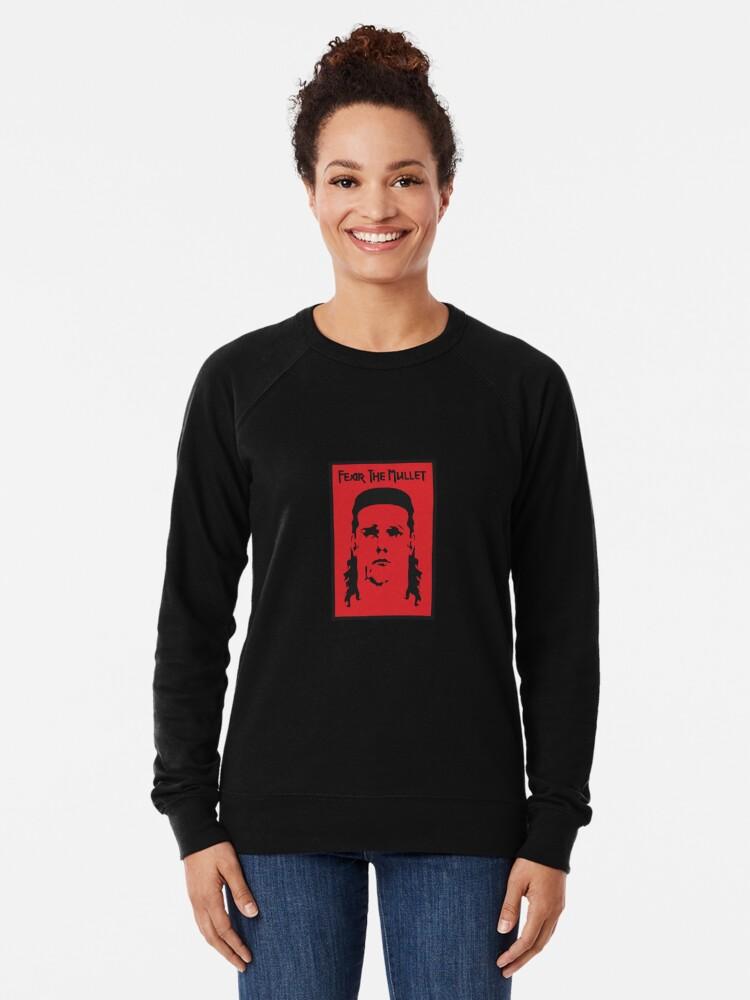 Alternate view of Fear the Mullet Lightweight Sweatshirt