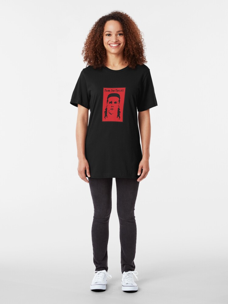 Alternate view of Fear the Mullet Slim Fit T-Shirt